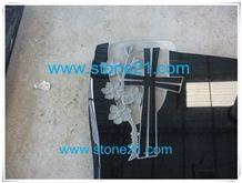 Absolute Black Granite Tombstone,Shanxi Black Granite Monument & Tombstone