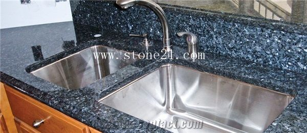 Blue Pearl Granite Kitchen Countertops Bench Tops From