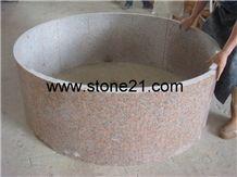 Crown Red Granite Column,China Red Granite