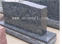 Memorial Usage American Style Blue Pearl Granite Monument & Tombstone