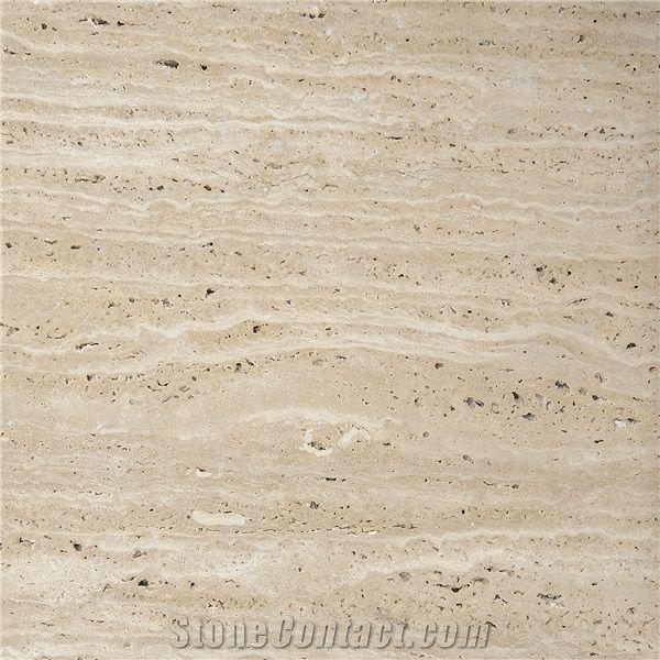 Tumbled Light Beige Stone Effect Travertine Wall Floor: Classic Light Travertine Tiles Slabs, Beige Polished