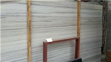 Crystal Wooden Vein Marble Tiles,White Wood Grain Machine Cutting Slabs,French Pattern