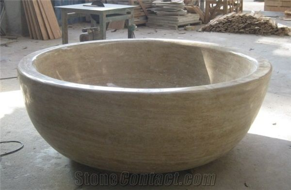 Travertine Bathtub, Beige Limestone Bathtubs from China ...