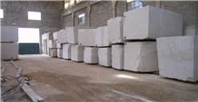 Botticino Super Light Marble Blocks, White Marble Blocks Italy