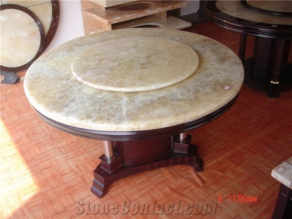 Merveilleux Polished Marble Furniture, Dining Room Table Top