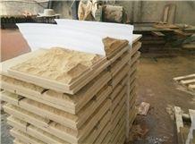 Beige Sandstone Floor Covering Mushroom Stone,Sichuan Beige Sandstone