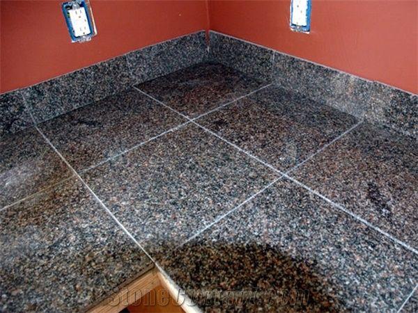 Polished Royal Rose Granite Floor Tile Shandong Brown