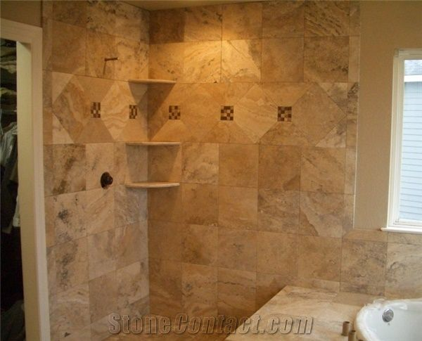 Turkey Beige Travertine Tiles for Bathroom Walling Panel/Covering Antique Style Bathroom Design & Turkey Beige Travertine Tiles for Bathroom Walling Panel/Covering ...