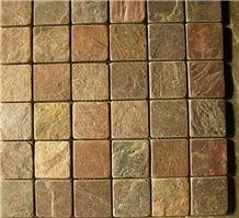 Brown Copper Slate Mosaic Tiles