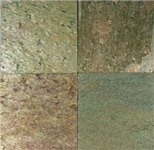 Golden Natural Slate Tiles & Slabs, Zeera Green Slate Floor Tiles, Wall Tiles