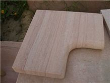 India Beige Sandstone Pool Coping