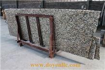 Gialle Golden Autumn Chinese Granite Slabs for Flooring Tiles, Sesame Gold Granite