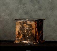 Black Gold Cube Urn