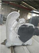 Beige Granite Monument & Tombstone G664 Granite Heart Monument
