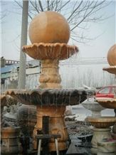 Marble Ball Water Fountain, Pink Marble Fountain
