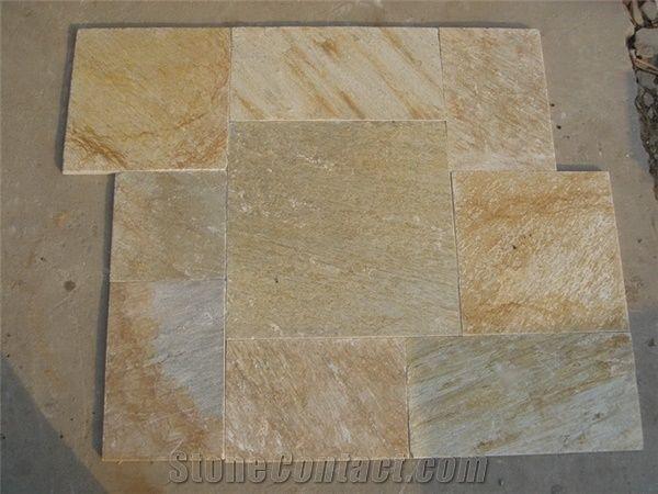 Oyster Flooring Slate Tiles China Beige Slate Beijing Stars Stone