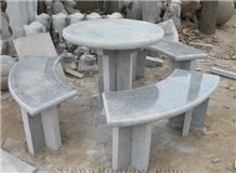 Granite Garden Table & Bench, New G603 Grey Granite Garden Tables