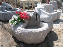 New G603 Grey Granite Flower Pots