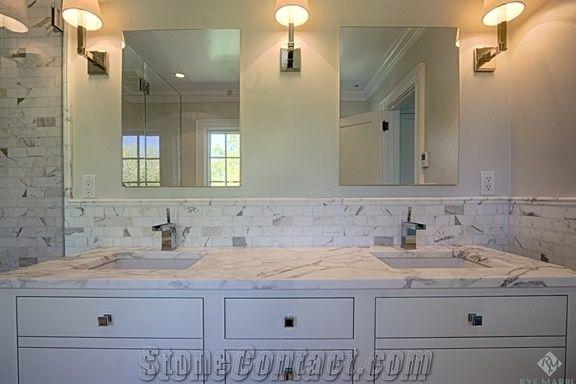 Calacatta Gold Marble Bathroom Countertops Italian White