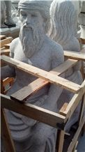 Grey Granite Human Sculptures & Statues Design