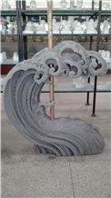 Outdoor Landscaping Spindrift Sculpture/Statue for Sale, Grey Granite Statues