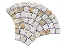 Vulcano Stone Fan Pattern on Mesh