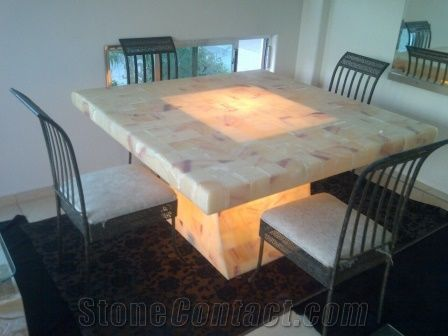 Dining Room Set Beige Onyx Furniture From Mexico