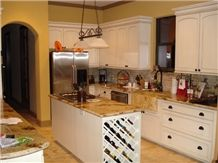 Yellow Moon Granite Kitchen Countertop