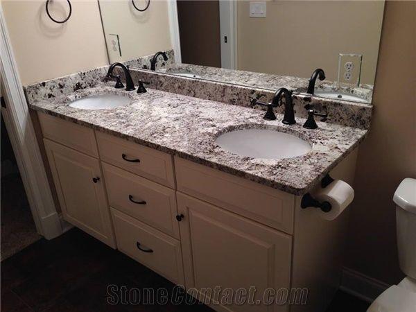 Alaska White Granite Eased Polished Edge Vanity From