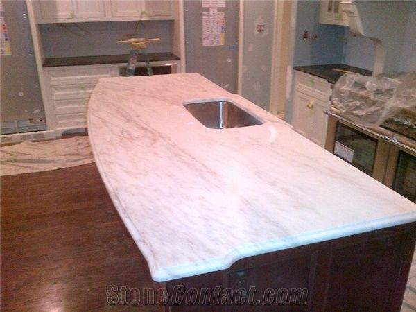 Kitchen Island In Imperial Danby Honed