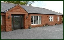 Bowscar Lazenby Red Sandstone Pitched Walling