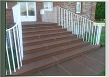 Corsehill Red Sandstone Entrance Stairs