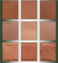 Corsehill Red Sandstone Natural Variation