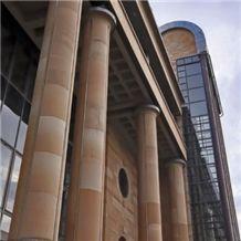 Corsehill Red Sandstone Column - Newcastle Crown Courts