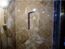 Crema Oro Marble Bathroom Shower Wall