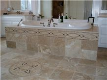 Travertino Classico Travertine Bathroom Design, Beige Travertine Bathroom Design