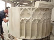 Fabrication Of a Gothic Fountain Made Of Udelfanger Sandstone