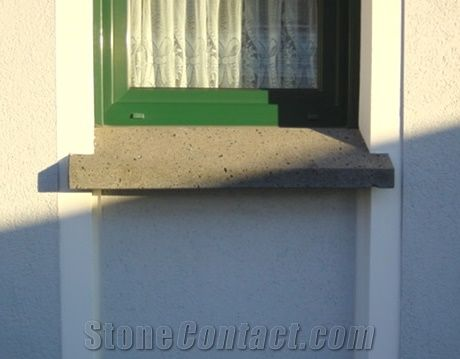 Window Ledge Made Of Mayen Basaltic Lava Installed with an ...