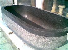 Indonesia Grey Basalt Solid Bath Tub