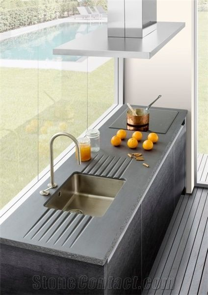 Glazed Lava Stone Kitchen Counter Tops From Greece