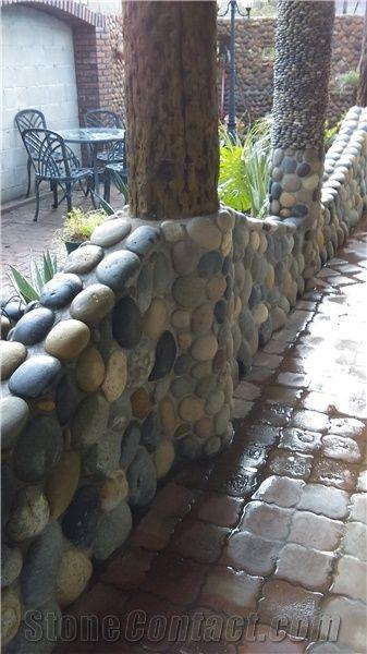 garden retaining wall block mexican beach pebbles garden retaining wall from united states