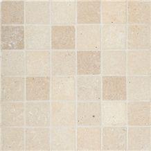 Salem Grey Tumbled Limestone Mosaic Tiles