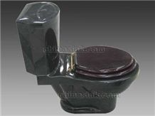 Absolute Black Granite Toilet