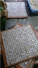 White Chipped, Mother Of Pearl Sea Shell Mosaic Polished for Bathroom Walling,Floor Covering Mosaic Art Pattern