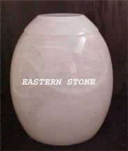 Pakistan White Onyx Cremation Urns