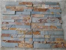 Good Quality Cheaper Chinese Sunset Split Face Multicolour Rusty Slate Stone Veneer, Stone Wall Decor, Exposed Wall Stone,Rustic Slate Feature Wall Rusty Slate Culture Stone Wall Cladding