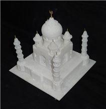 White Marble Taj Mahal Replica Gift