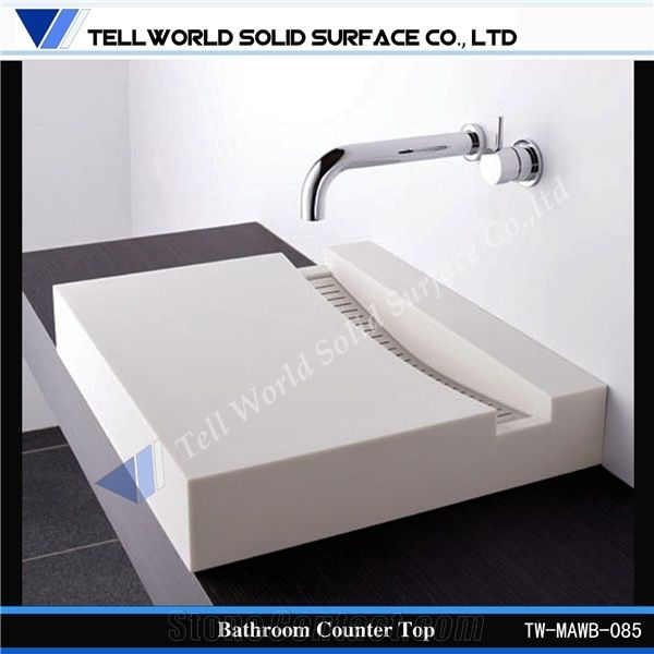 solid surface bathroom countertops and sinks china supply solid surface bathroom countertops with built 25770