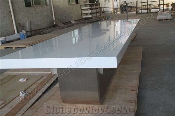 Hot Selling White Marble Top Conference TableSolid Surface Meeting - White marble conference table