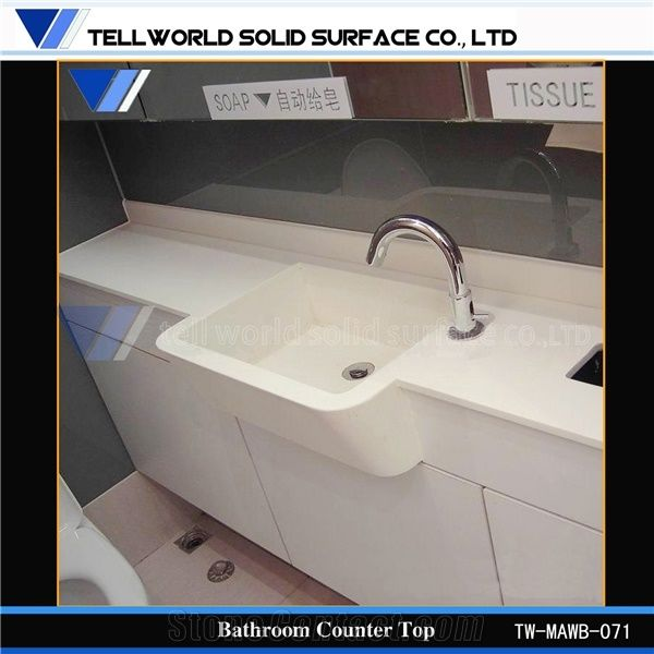 solid surface bathroom countertops and sinks white arylic solid surface bathroom vanity countertops 25770